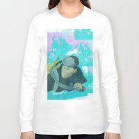 scuba Long Sleeve T-shirts featuring Scuba Steve by Even In Death