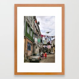 Laundry service Framed Art Print
