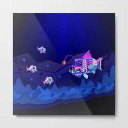 Anglerfish, lie and bioluminescence Metal Print