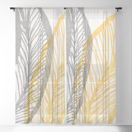 Friendly Flora - Colorful Leaf Design Sheer Curtain