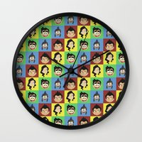 korra Wall Clocks featuring Korra collage by tukylampkin