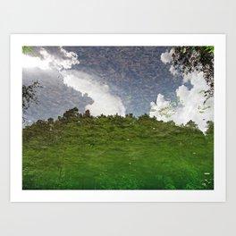 The Sky swims in the lake Art Print