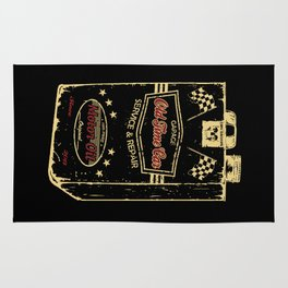 Old Time Car Oil Can  Rug