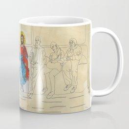 Jesus on the Tube, He is among us Coffee Mug
