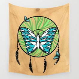 Butterfly Dream-Catcher Wall Tapestry