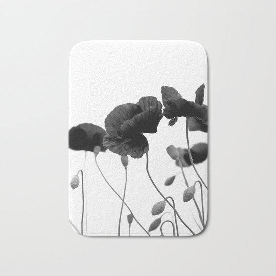Poppy (black and white) Bath Mat