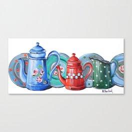 Jug and Teapots Canvas Print