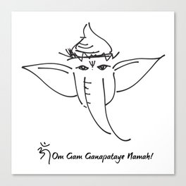 Ganesha, the Remover of Obstacles Canvas Print