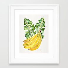 Banana Bunch – Green Leaves Framed Art Print