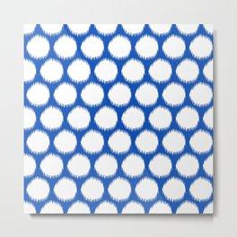 Sapphire Asian Moods Ikat Dots Metal Print