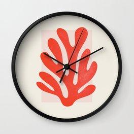 Jazz Leaf: Matisse Edition   Mid Century Series Wall Clock