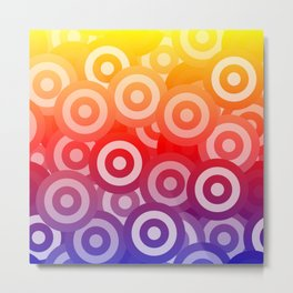 Rainbow Circles Metal Print