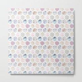 Geometric Marble Metal Print