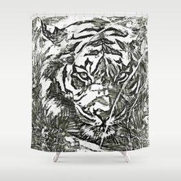 Pencil Asian Tiger Shower Curtain