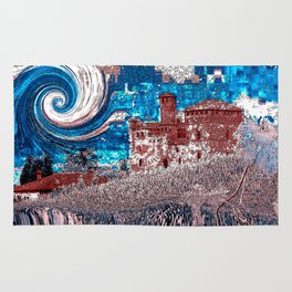 Castello Langhe -Art Digital Original- Rug