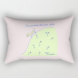Downward facing dog yoga drawing Rectangular Pillow