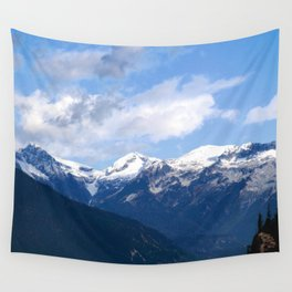 Mountains in the backyard Wall Tapestry