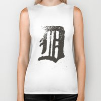 detroit Biker Tanks featuring Detroit by Landon Sheely
