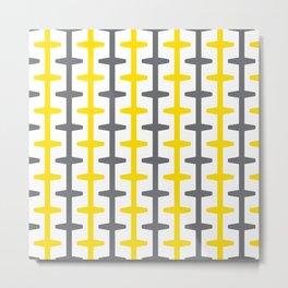 Geometric Pattern #209 (yellow gray) Metal Print