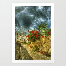 Summer village Art Print