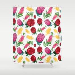 Beautiful Australian Native Floral Pattern Shower Curtain