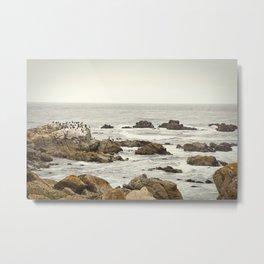 Ocean and Rocks Metal Print
