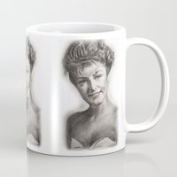 laura palmer Mugs featuring TWIN PEAKS - LAURA PALMER by William Wong