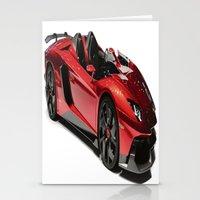 lamborghini Stationery Cards featuring Lamborghini Veneno by rosita