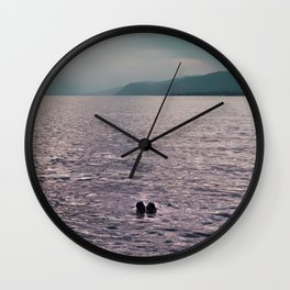 Kiss in the Lake Wall Clock