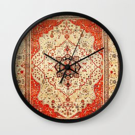 Mohtasham Kashan Antique Persian Rug Print Wall Clock