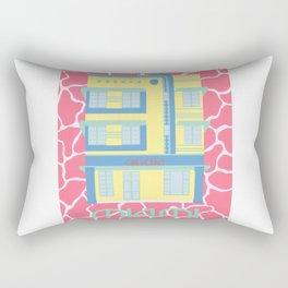 Miami Landmarks - Crescent Rectangular Pillow
