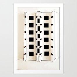 Building Model Art Print