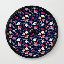 Bloom Where You're Planted Wall Clock