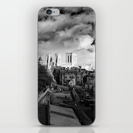 York Minster and walls in the sun iPhone Skin