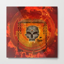 Awesome skull with celtic know Metal Print