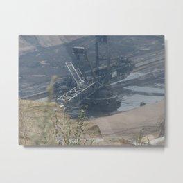 Mining pit machinery II Metal Print