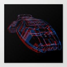 Classic Galactica 3D Canvas Print