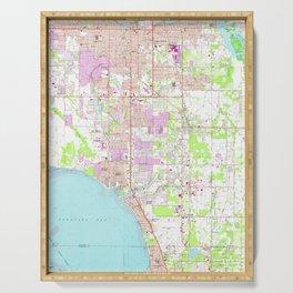 Vintage Map of Bradenton Florida (1964) Serving Tray