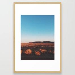 Desert Tranquility Framed Art Print
