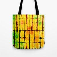 tye dye Tote Bags featuring PILLOW TYE DYE 101 by the artist J©
