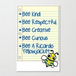 Bee a Yellowjacket Canvas Print