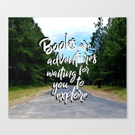 Book Quotes Canvas Print