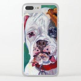 Boxer Dog Portrait Clear iPhone Case