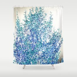 WINTER BLUE - SOLAR TREE Shower Curtain