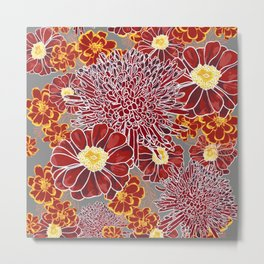 Floral Pattern I Metal Print