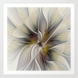 Floral Abstract, Fractal Art Art Print