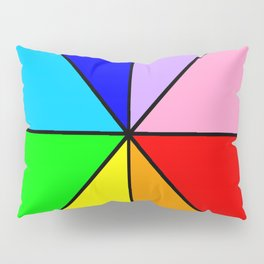 Optical pattern 8 multicolor or rainbow Pillow Sham