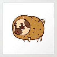 potato Art Prints featuring Puglie Potato by Puglie Pug