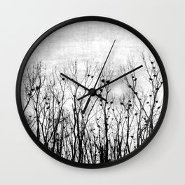 Home, Sweet Home (grayscale) Wall Clock