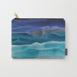 Alcohol Ink Seascape 3 - Sea at Night Carry-All Pouch